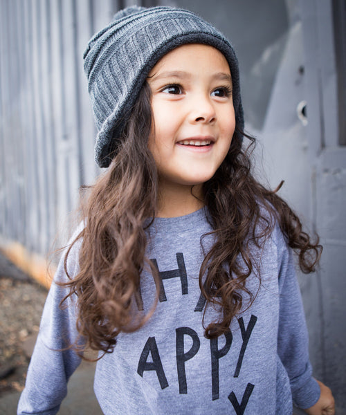 'Happy' Raglan Pullover