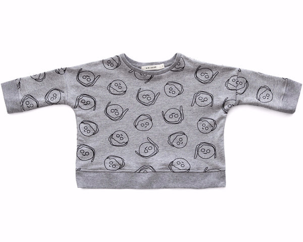 'BOYS+GIRLS' OVERSIZED SWEATSHIRT (HEATHER GREY)