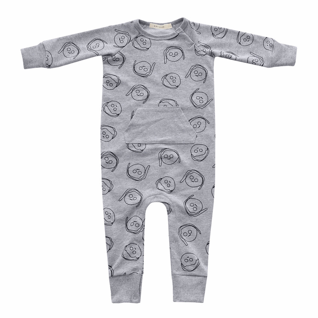'BOYS+GIRLS' PLAYSUIT (HEATHER GREY)