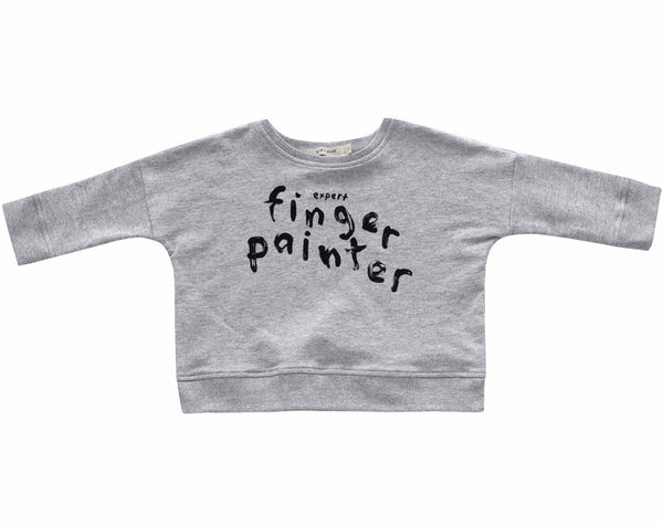 'FINGER-PAINTER' OVERSIZED SWEATSHIRT (HEATHER GREY)