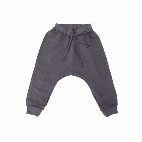 'FRECKLE FACE' FRENCH TERRY PANT (CHARCOAL)
