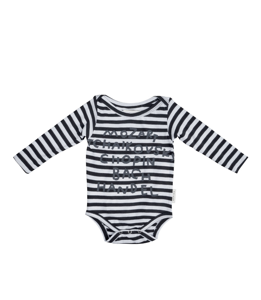 COMPOSERS STRIPED ONESIE