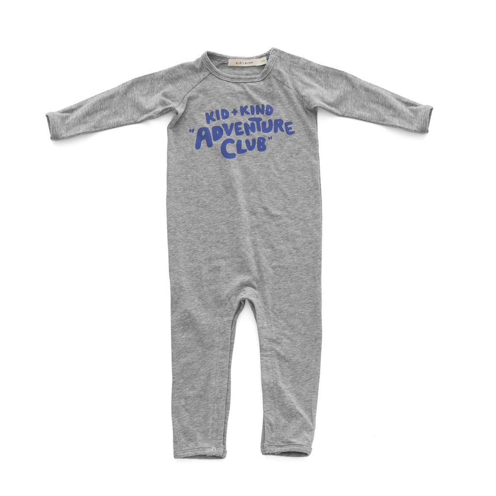 'KID + KIND ADVENTURE CLUB' PLAYSUIT