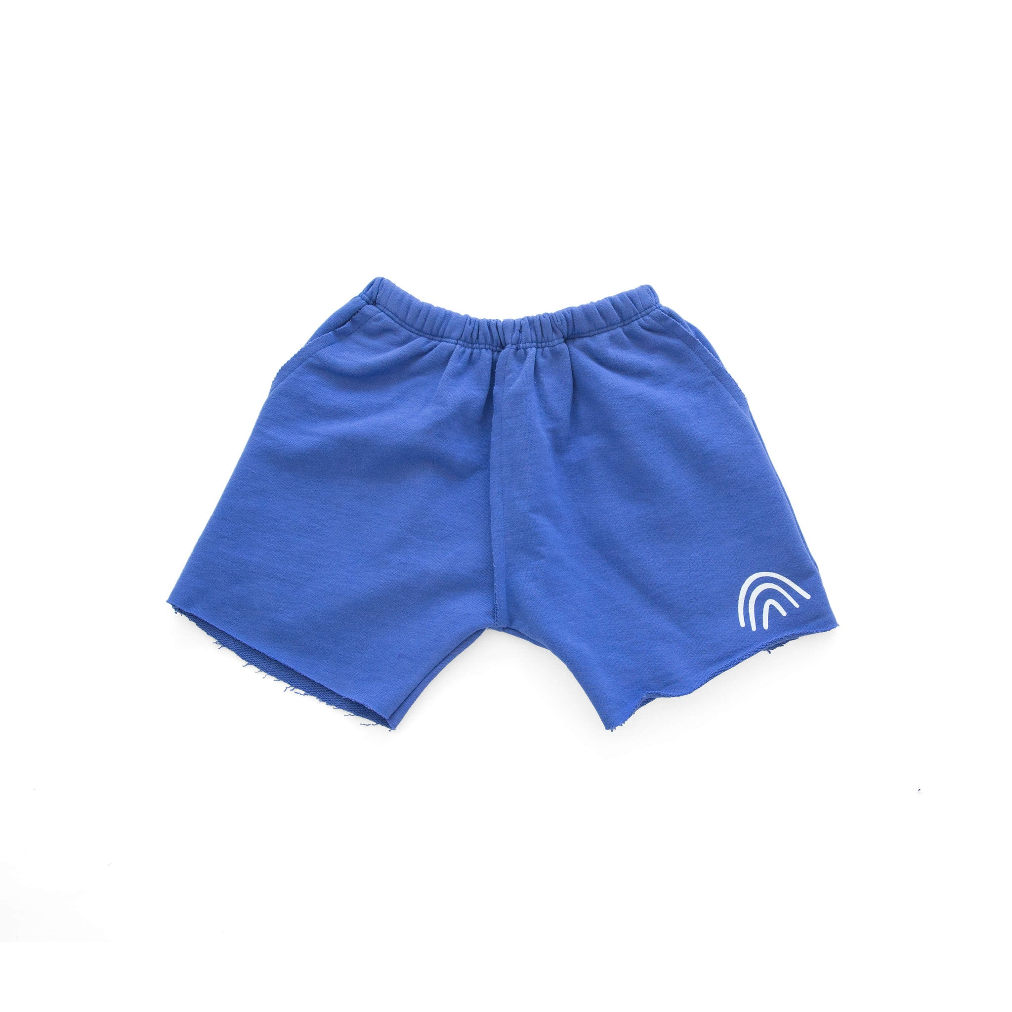 'RAINBOW' FRENCH TERRY SHORT (BLUE)