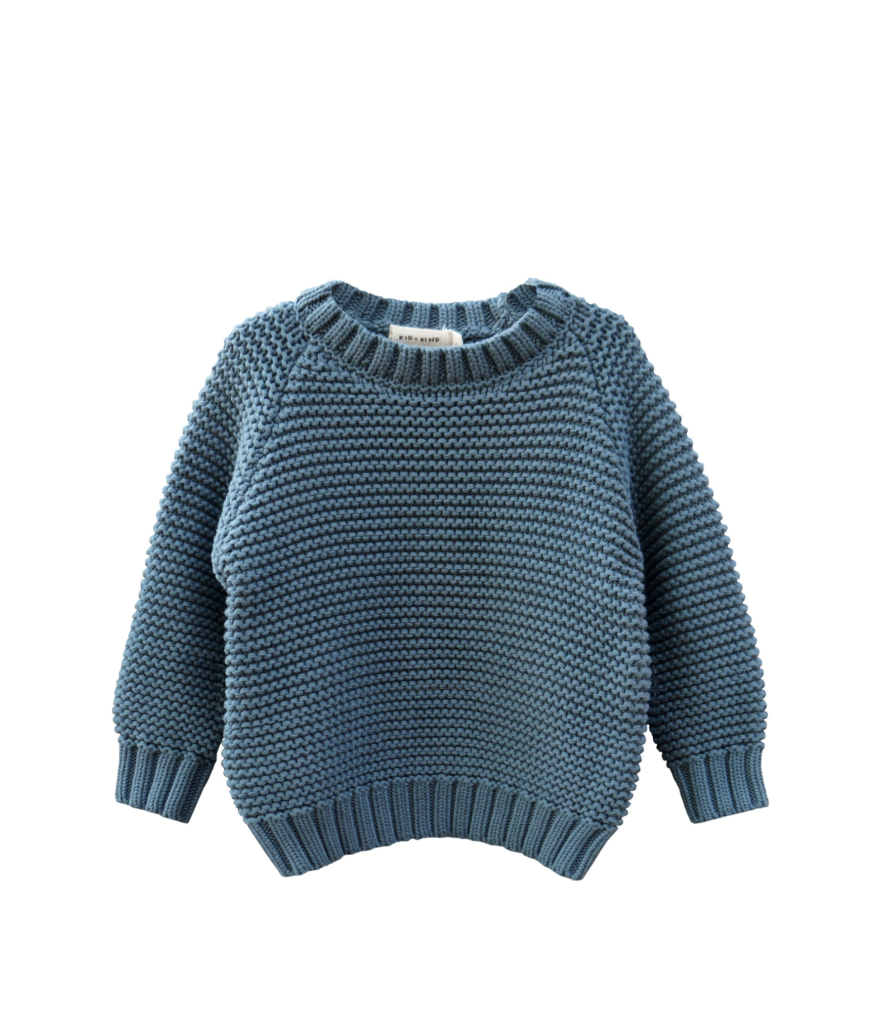 CREW NECK SWEATER (SLATE GREEN)