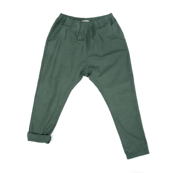 WOMEN'S WOVEN PANT (DARK GREEN)