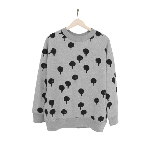 WOMEN'S 'TREE STAMP' OVERSIZED BASIC SWEATSHIRT