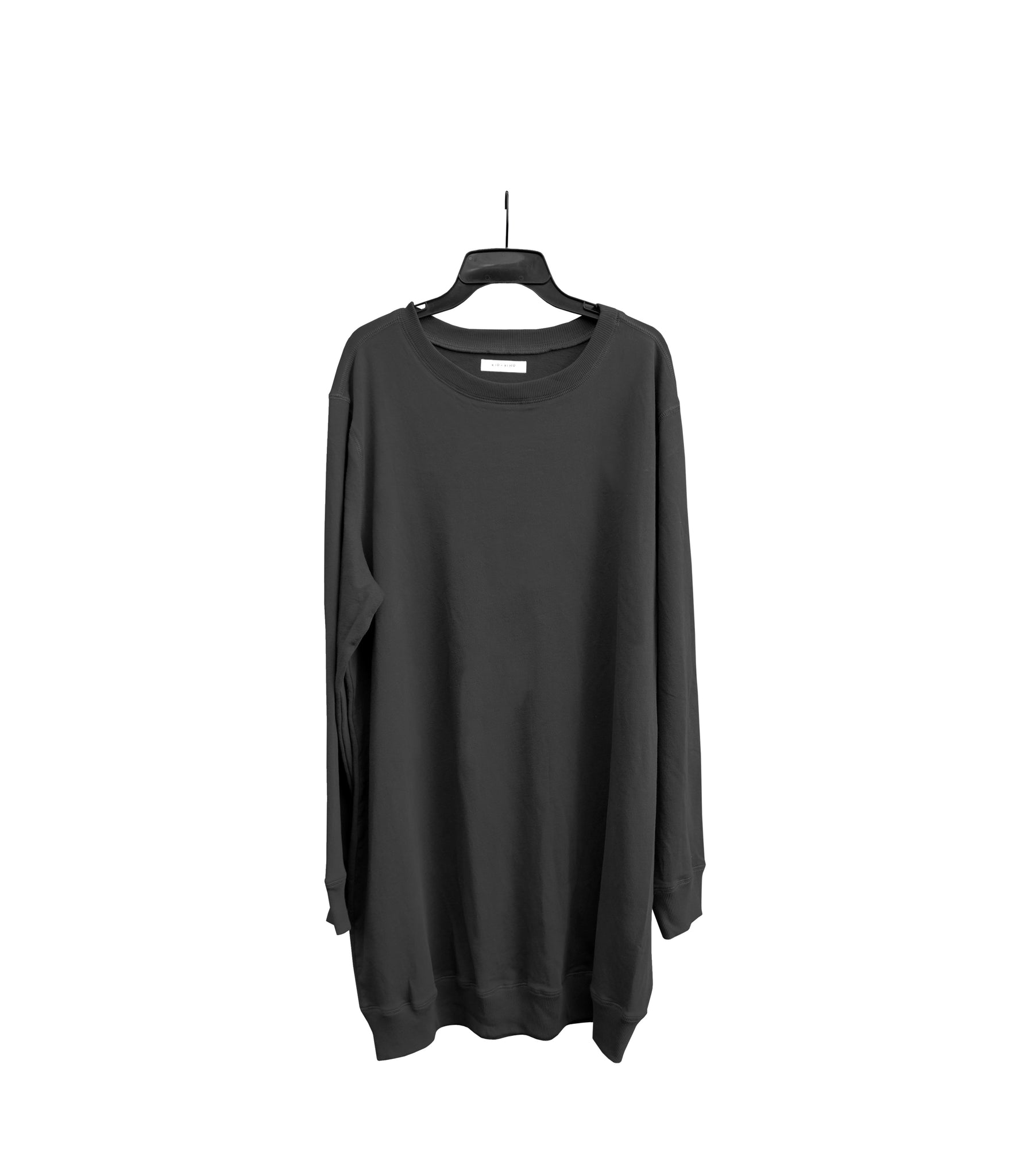 WOMEN'S CHARCOAL PULLOVER DRESS