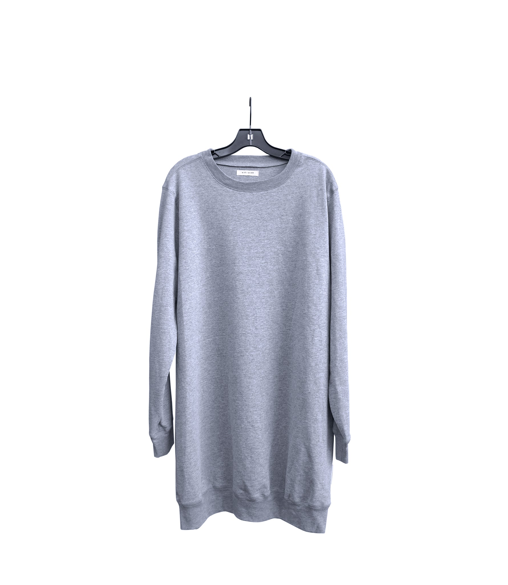 WOMEN'S HEATHER GREY PULLOVER DRESS