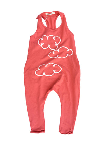 'CLOUD' TANK ROMPER (RED)