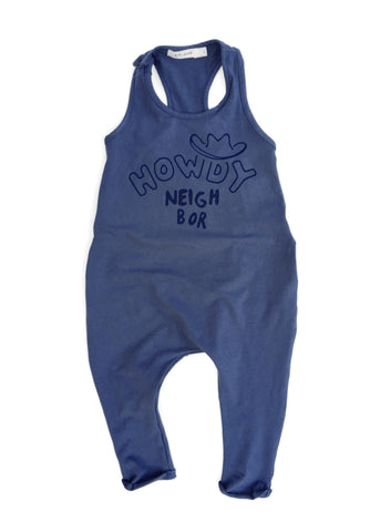 'HOWDY' TANK ROMPER (DENIM BLUE)
