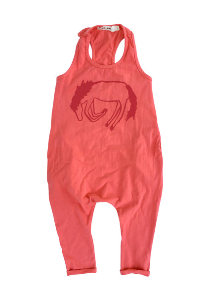 'PONY' TANK ROMPER (RED)