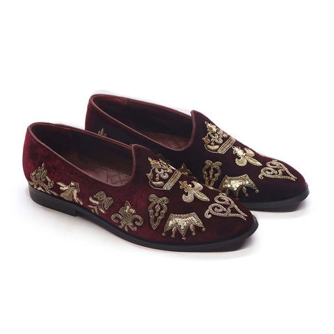 Slip On With Royalty Crests
