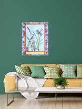 Load image into Gallery viewer, Dragonfly and Lavender Print