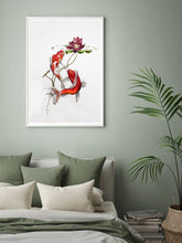 Load image into Gallery viewer, Koi and Lotus Print