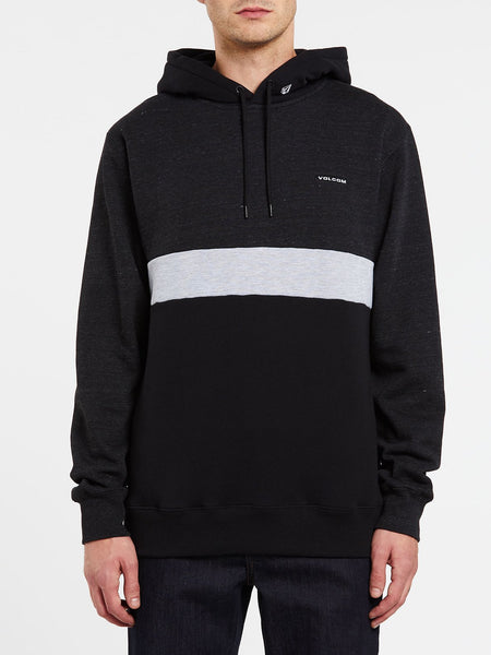 VOLCOM MENS SINGLE STONE DIVISION BLACK HOODIE