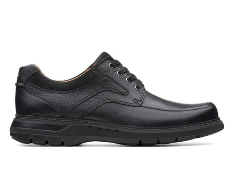CLARK MENS UN RAMBLE LACE BLACK SHOE