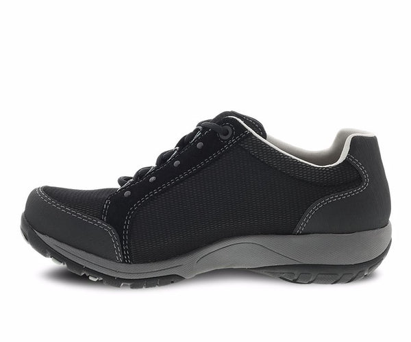 DANSKO LADIES PEGGY BLACK SUEDE SHOE