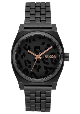 NIXON TIME TELLER ALL BLACK/CHEETAH WATCH