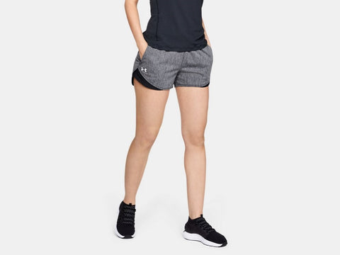 UNDER ARMOUR LADIES PLAY UP TWIST 3.0 BLACK SHORTS