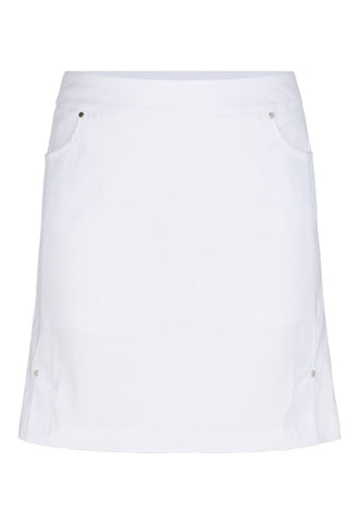 "TRIBAL LADIES COMFORT STRETCH 19"" WHITE PULL-ON SKORT"