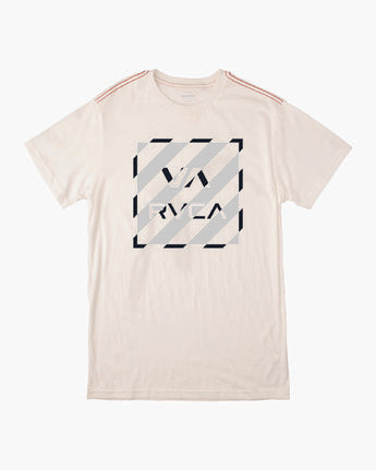RVCA MENS HAZARD BOX ANTIQUE WHITE TSHIRT