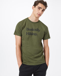 TEN TREE MENS BASICALLY HIKING OLIVE NIGHT GREEN TSHIRT