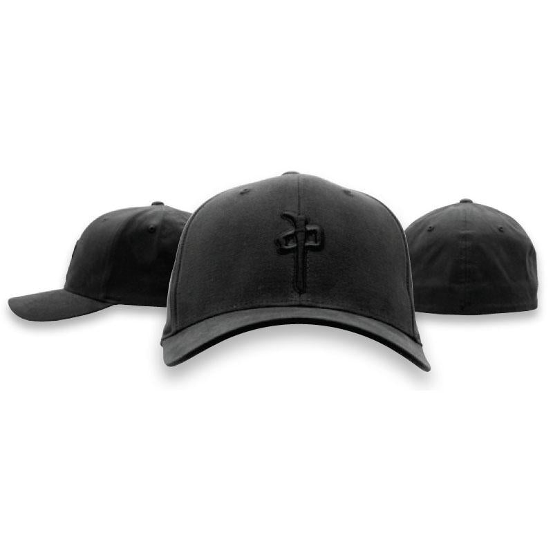 RDS MENS FLEXFIT OG PUFFY BLACK/BLACK HAT