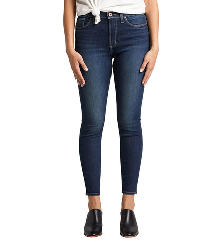 SILVER JEANS LADIES CALLEY SKINNY HIGH RISE INDIGO JEAN