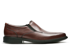 CLARK MENS BOLTON FREE BROWN LEATHER DRESS SHOE