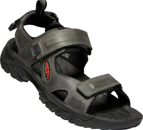 KEEN MENS TARGHEE III OPEN TOE GREY/BLACK SANDAL