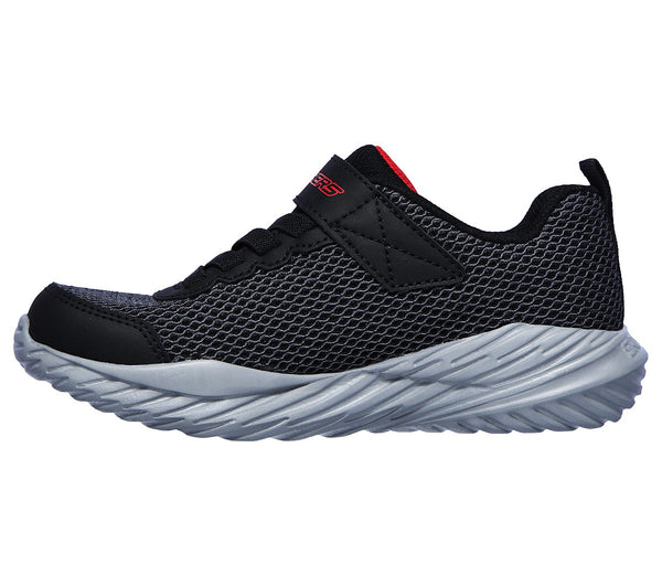 SKECHERS YOUTH NTRO SPRINT BLACK/RED RUNNING SHOE