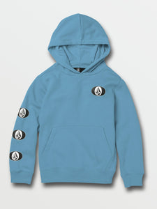 VOLCOM YOUTH STONE STACK HORIZON BLUE HOODIE