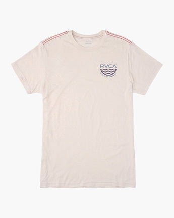RVCA MENS DEPT OF IND ANTIQUE WHITE TSHIRT