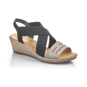 RIEKER LADIES 63694-42 GREY SANDAL