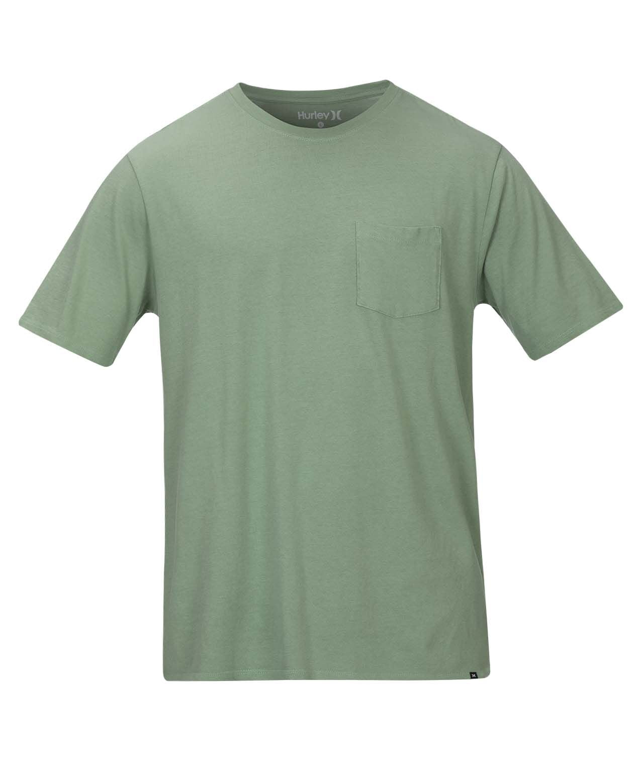 HURLEY MENS STAPLE LIGHT GREEN TSHIRT