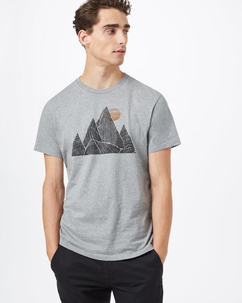 TEN TREE MENS MOUNTAIN PEAK CLASSIC HEATHER GREY TSHIRT