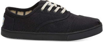 TOMS LADIES BLACK/BLACK HERITAGE CANVAS SHOE
