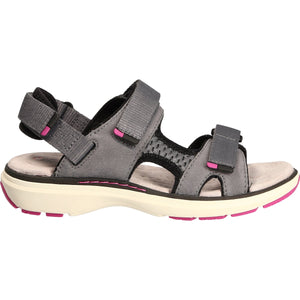 CLARK LADIES UN ROAM STEP GREY NUBUCK SANDAL