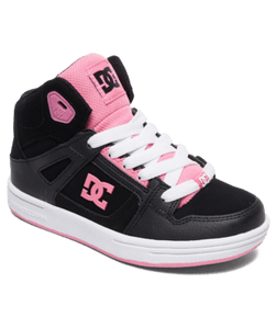 DC SHOES YOUTH PURE HT BLACK/PINK SHOE