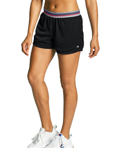 CHAMPION LADIES MESH BLACK SHORT