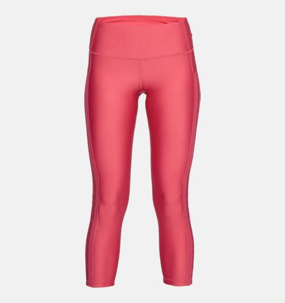 UNDER ARMOUR LADIES HEATGEAR ANKLE BRANDED IMPULSE PINK CROP