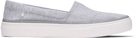 TOMS LADIES PARKER DRIZZLE GREY TWILL SHOE