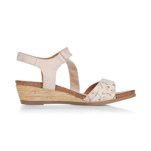 REMONTE LADIES R4462-60 BEIGE COMBINATION SANDAL