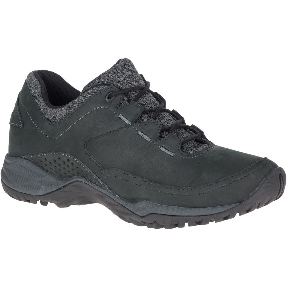 MERRELL LADIES ENDURE LEATHER Q2 BLACK SHOE