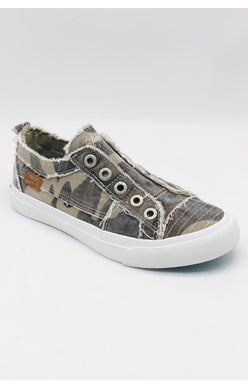 BLOWFISH LADIES PLAY NATURAL CAMOFLAUGE CANVAS SHOE