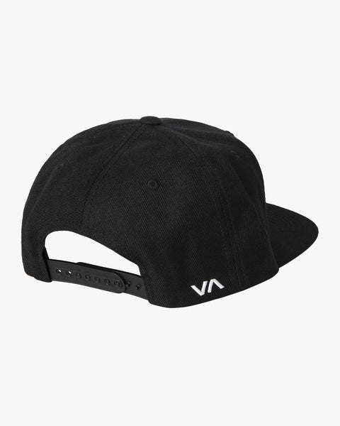 RVCA MENS TWILL SNAPBACK III BLACK/CHARCOAL HAT