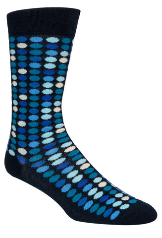 MCGREGOR MENS COTTON BLEND POLKA DOT SOCK