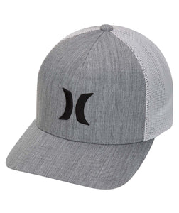HURLEY MENS ICON TEXTURES GREY HAT