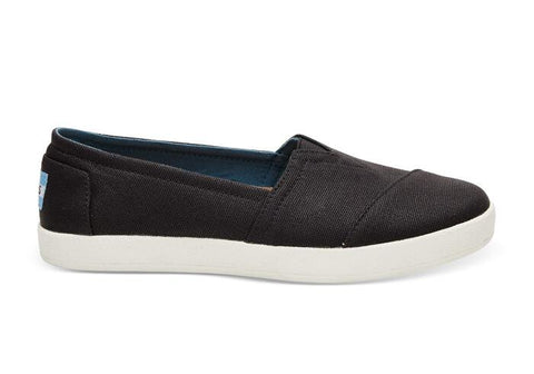 TOMS LADIES BLACK COATED CANVAS AVA SHOE